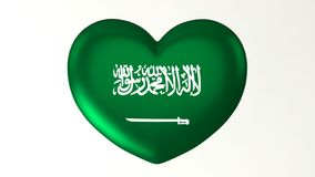 Heart-shaped flag 3D Illustration I love Saudi Arabia vector illustration