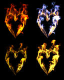 Heart shaped flames Royalty Free Stock Photo