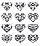 Heart-shaped floral decorations Royalty Free Stock Photos