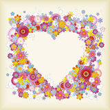 Heart-shaped floral frame Royalty Free Stock Photos
