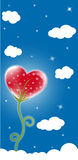 Heart shaped flower stock illustration