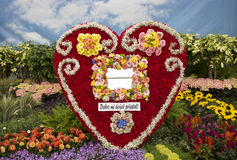Heart shaped flower arrangement Stock Photography