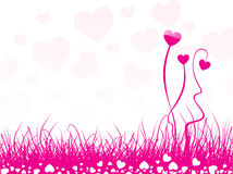 Heart shaped flower background. This image is a vector illustration and can be scaled to any size without loss of resolution Royalty Free Stock Image