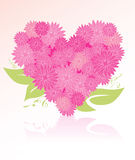 Heart-shaped flower bouquet Stock Photos