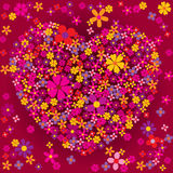 Heart Shaped Flower Burst Royalty Free Stock Photography