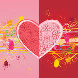 Heart shaped flower heads Royalty Free Stock Photos