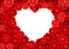 Heart Shaped Flowers Stock Photography