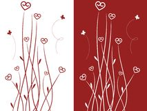 Heart shaped flowers Royalty Free Stock Images