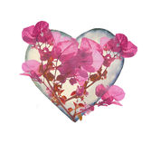 Heart Shaped with Flowers Royalty Free Stock Images
