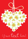 Heart shaped flowers card Royalty Free Stock Images