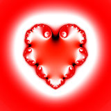 Heart Shaped Fractal. Heart shaped fracture in red and white. Conceptual. Both love and fractal complicated Vector Illustration
