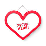 Heart shaped frame Royalty Free Stock Image