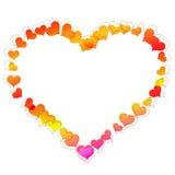 Heart shaped frame Royalty Free Stock Photos