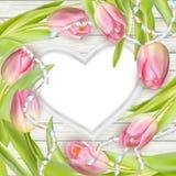 Heart-shaped frame. EPS 10 royalty free illustration