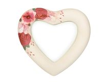 Heart shaped frame with flowers Royalty Free Stock Image