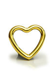 Heart shaped frame isolated. On the white Stock Photo