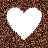 Heart shaped frame made of coffee bean Royalty Free Stock Image