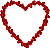 Heart shaped frame Stock Images