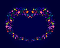 Heart-shaped frame of the stars Royalty Free Stock Photography