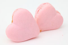 Heart shaped French macaroons Royalty Free Stock Images