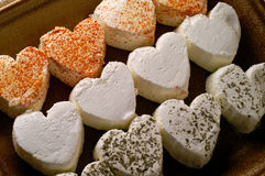 Heart shaped fresh cheese Royalty Free Stock Photos