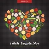 Heart Shaped Fresh Vegetables Poster Stock Image