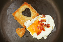 Egg and fried bread Stock Photo