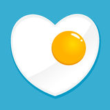 Heart Shaped Fried Egg. Vector stock of simple heart shaped fried egg illustration Stock Photography