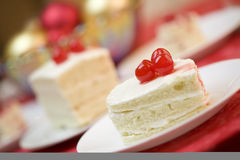 Heart shaped frosted cake Stock Photos