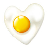 Heart shaped fryed egg Royalty Free Stock Photo