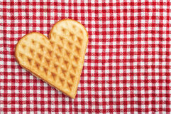 Heart shaped galette cookie Stock Photos