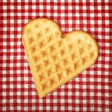 Heart shaped galette cookie Stock Photo