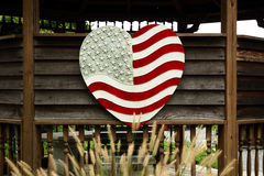 Heart Shaped Garden and Landscaping Decoration Royalty Free Stock Image