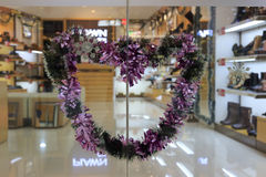 Heart-shaped garland Stock Photography
