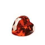Heart shaped gem stone isolated Royalty Free Stock Images