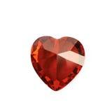 Heart shaped gem stone isolated Stock Photography