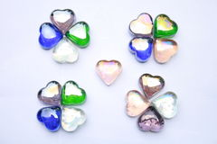 Heart shaped gem stones Royalty Free Stock Photo