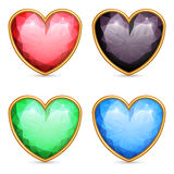 Heart shaped gems. Stock Photos