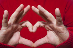 Heart Shaped Gesture Royalty Free Stock Photo