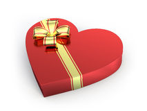 Heart shaped gift Stock Images
