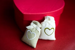 Heart shaped gift Royalty Free Stock Photos