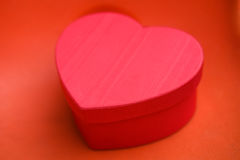 Heart shaped gift Royalty Free Stock Photography