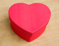 Heart shaped gift Stock Image