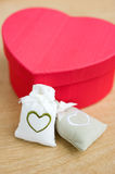 Heart shaped gift Stock Photography