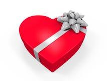 Heart-shaped Golden Gift Box Stock Image - Image: 3279601