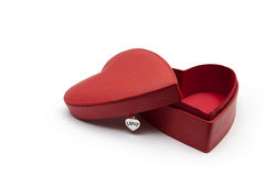 Heart shaped gift box. An opened heart shaped red gift box, for lovers and any kind of occasions Royalty Free Stock Image
