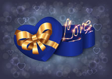 Heart shaped gift box Stock Image