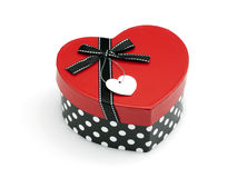 Heart shaped gift box isolated Stock Photos