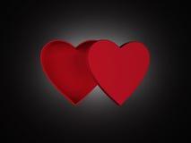 Heart shaped gift box Stock Photography