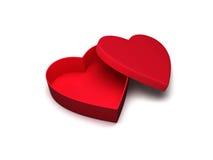 Heart shaped gift box Royalty Free Stock Image